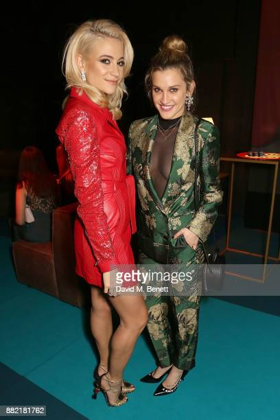 Pixie Lott and Ashley Roberts attend the UK launch of the Ferrari Portofino at Kensington Olympia on November 29 2017 in London England