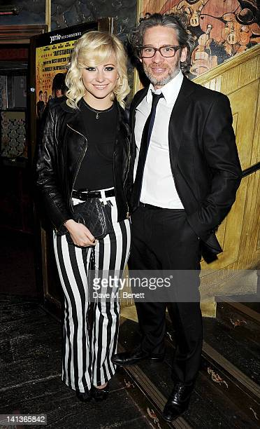 Pixie Lott and Dexter Fletcher attend a private screening of Dexter Fletcher's directorial debut 'Wild Bill' hosted by chef Jamie Oliver at The Box...