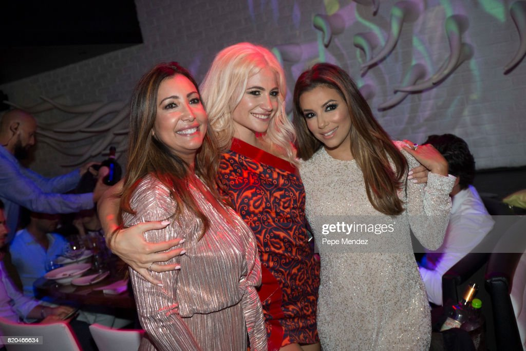 Pixie Lott and Eva Longoria attend Global Gift Gala Party on July 21, 2017 in Ibiza, Spain.