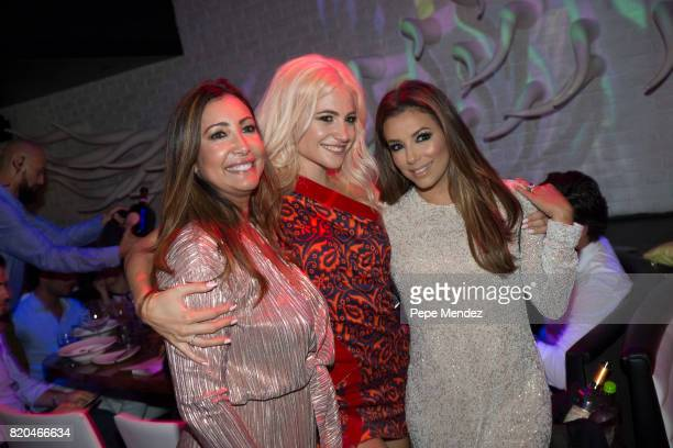Pixie Lott and Eva Longoria attend Global Gift Gala Party on July 21 2017 in Ibiza Spain