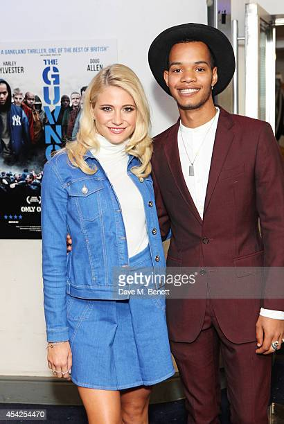 Pixie Lott and Harley Sylvester AlexanderSule attend the UK Premiere of The Guvnors at Odeon Covent Garden on August 27 2014 in London England