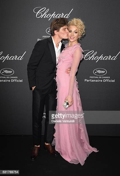 Pixie Lott and Oliver Cheshire attend Chopard Wild Party as part of The 69th Annual Cannes Film Festival at Port Canto on May 16 2016 in Cannes France