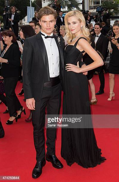 Pixie Lott and Oliver Cheshire attend the 'Dheepan' Premiere during the 68th annual Cannes Film Festival on May 21 2015 in Cannes France