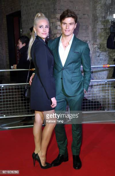 Pixie Lott and Oliver Cheshire attend the Naked Heart Foundation's Fabulous Fund Fair during London Fashion Week February 2018 at the Roundhouse on...