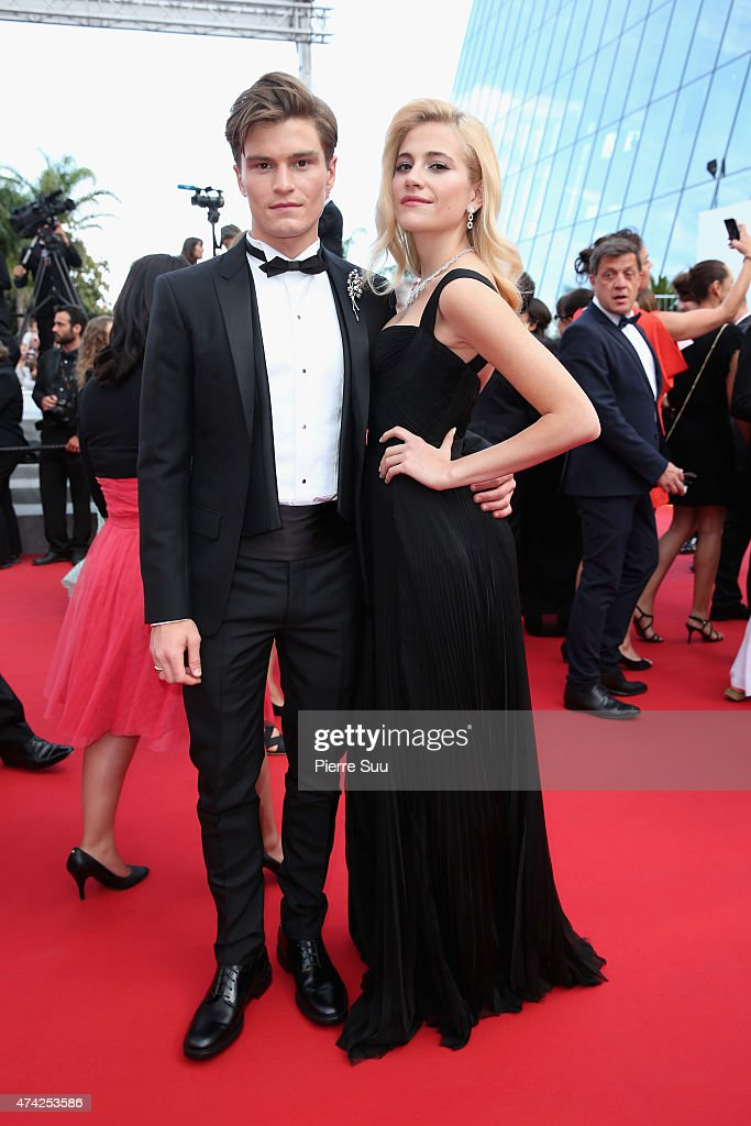 Pixie Lott and Oliver Cheshire attend the Premiere of 'Dheepan' during the 68th annual Cannes Film Festival on May 21, 2015 in Cannes, France.