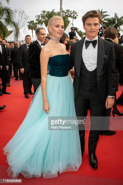 Pixie Lott and Oliver Cheshire attend the screening of Le Belle Epoque during the 72nd annual Cannes Film Festival on May 20 2019 in Cannes France