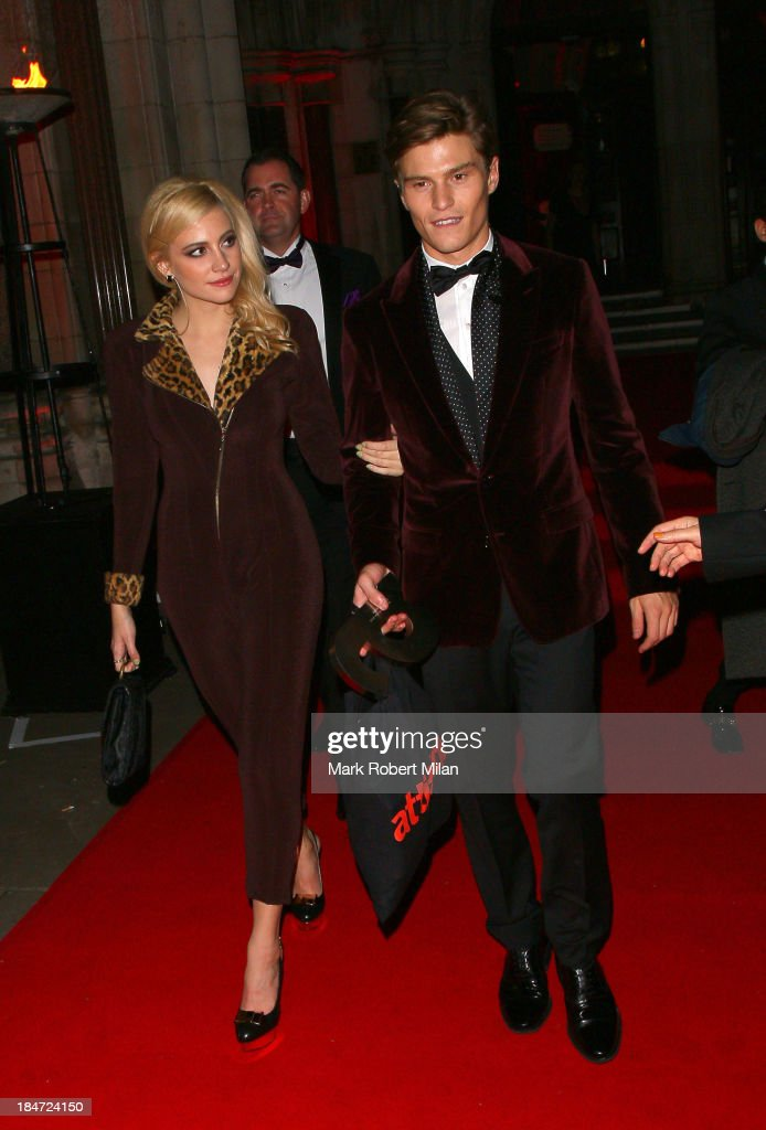 Pixie Lott and Oliver Cheshire attending the Attitude Magazine Awards on October 15, 2013 in London, England.