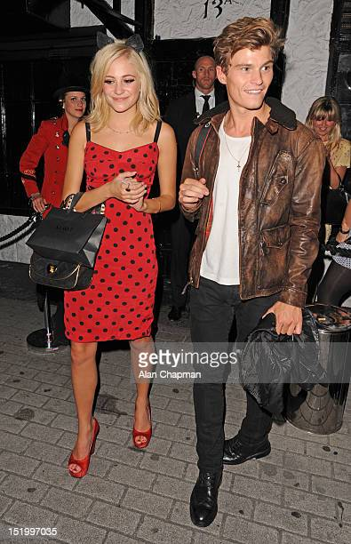 Pixie Lott and Oliver Cheshire sighting at Mawi after show party on September 14 2012 in London England