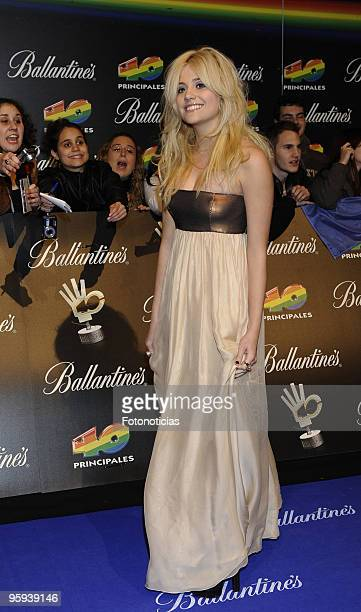 Pixie Lott arrives at the ''40 Principales'' Awards at the Palacio de Deportes on December 11, 2009 in Madrid, Spain.