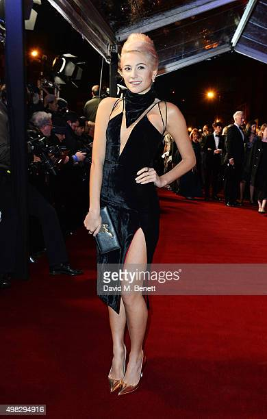 Pixie Lott arrives at The London Evening Standard Theatre Awards in partnership with The Ivy at The Old Vic Theatre on November 22 2015 in London...