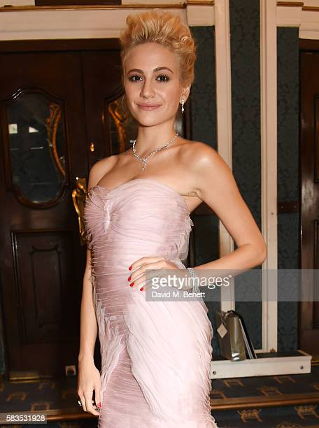 Pixie Lott arrives at the press night performance of 'Breakfast at Tiffany's' which she stars in at the Theatre Royal Haymarket on July 26 2016 in...