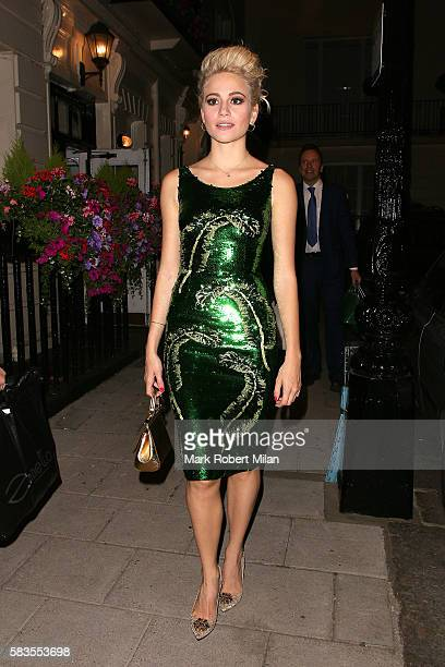 Pixie Lott attending the 'Breakfast at Tiffany's' play press night at the Theatre Royal Haymarket on July 26 2016 in London England