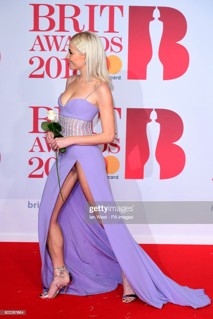 Pixie Lott attending the Brit Awards at the O2 Arena, London.