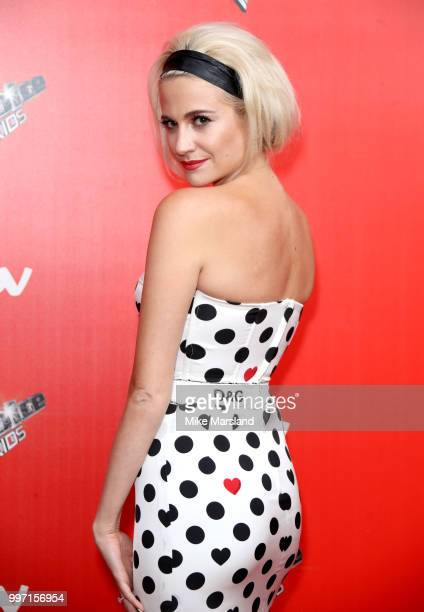 Pixie Lott attends a photocall to launch season 2 of 'The Voice Kids' at Madame Tussauds on July 12 2018 in London England