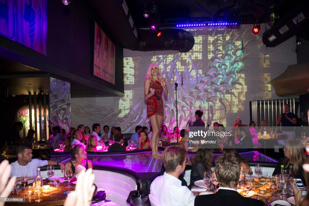 Pixie Lott attends Global Gift Gala Party on July 21, 2017 in Ibiza, Spain.
