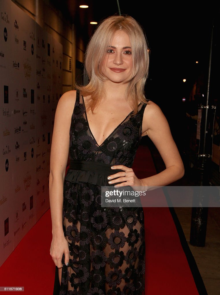 Pixie Lott attends the 16th Annual WhatsOnStage Awards at The Prince of Wales Theatre on February 21, 2016 in London, England.