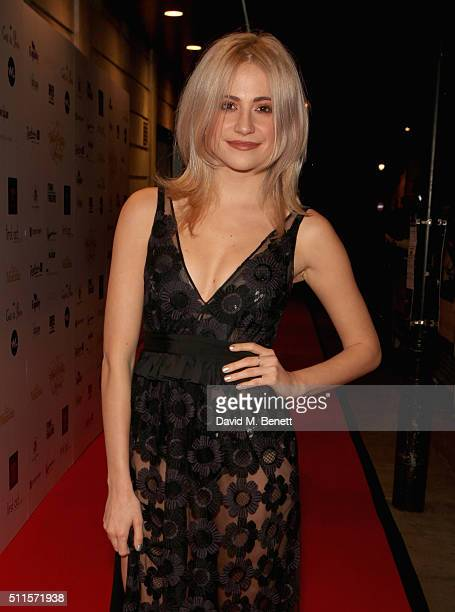 Pixie Lott attends the 16th Annual WhatsOnStage Awards at The Prince of Wales Theatre on February 21 2016 in London England