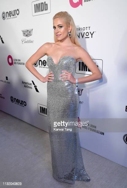 Pixie Lott attends the 27th annual Elton John AIDS Foundation Academy Awards Viewing Party Celebrating EJAF And The 91st Academy Awards on February...