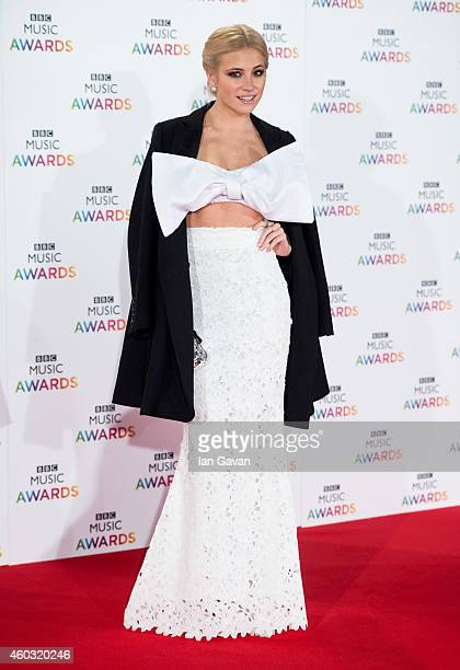 LONDON ENGLAND DECEMBER 11 Pixie Lott attends the BBC Music Awards at Earl's Court Exhibition Centre on December 11 2014 in London England
