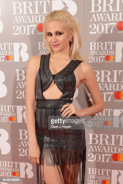 ONLY Pixie Lott attends The BRIT Awards 2017 at The O2 Arena on February 22 2017 in London England