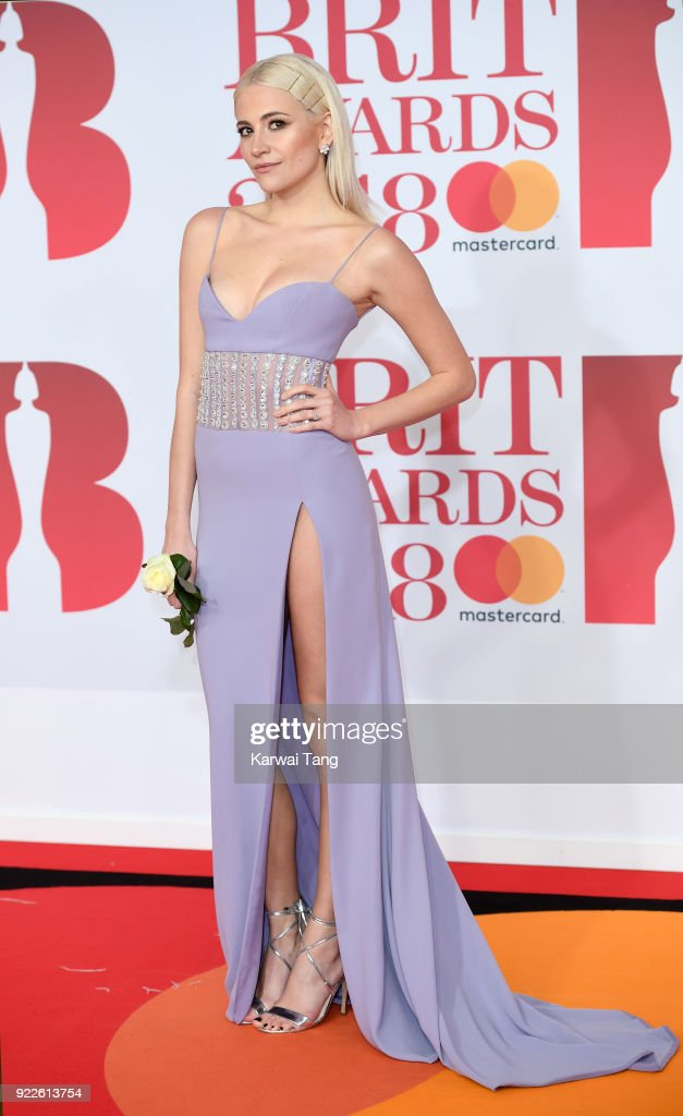 Pixie Lott attends The BRIT Awards 2018 held at The O2 Arena on February 21, 2018 in London, England.