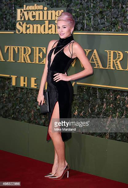 Pixie Lott attends the Evening Standard Theatre Awards at The Old Vic Theatre on November 22 2015 in London England