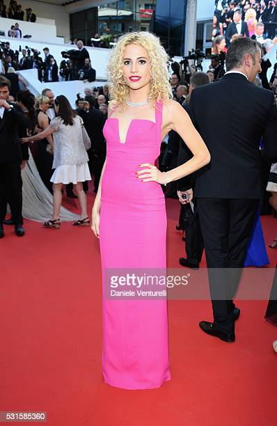 Pixie Lott attends the 'From The Land Of The Moon ' premiere during the 69th annual Cannes Film Festival at the Palais des Festivals on May 15 2016...