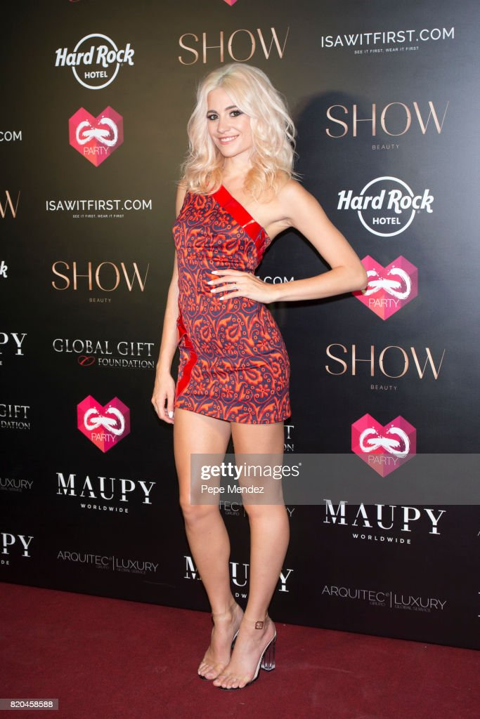 Pixie Lott attends the Global Gift Gala party at STK Ibiza on July 21, 2017 in Ibiza, Spain.