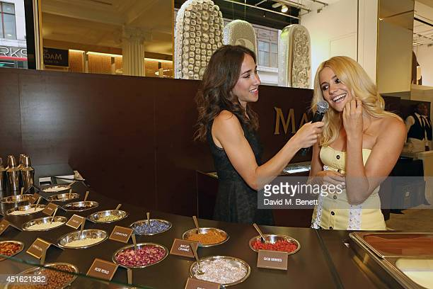 Pixie Lott attends the launch of the 'Make My Magnum' experience at Selfridges as a summer finale to Magnum's 25th birthday celebrations on July 2...