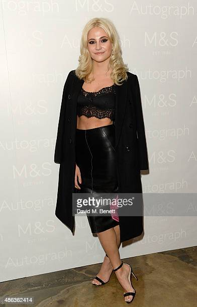 Pixie Lott attends the Marks Spencer party to launch Oliver Cheshire as the Face of Autograph Menswear on September 3 2015 in London England