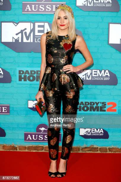 Pixie Lott attends the MTV EMAs 2017 held at The SSE Arena Wembley on November 12 2017 in London England