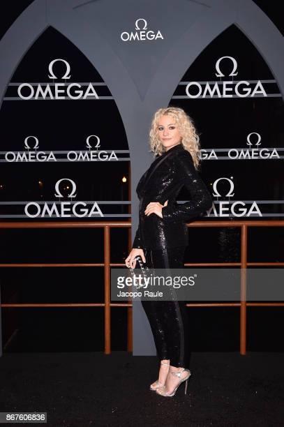 Pixie Lott attends the OMEGA Aqua Terra at Palazzo Pisani Moretta on October 28 2017 in Venice Italy
