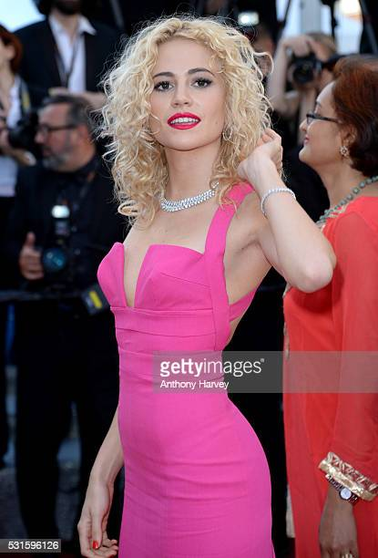 Pixie Lott attends the premiere of 'From The Land Of The Moon ' at the annual 69th Cannes Film Festival at Palais des Festivals on May 15 2016 in...