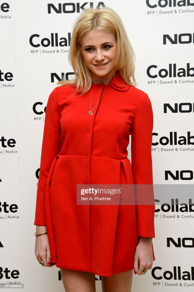 Pixie Lott attends the premiere of Rankin's Collabor8te connected by NOKIA at Regent Street Cinema on February 12, 2013 in London, England.