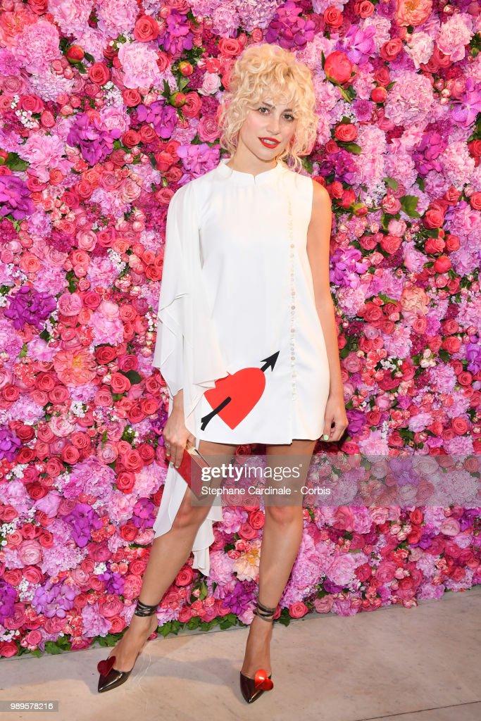 Pixie Lott attends the Schiaparelli Haute Couture Fall/Winter 2018-2019 show as part of Haute Couture Paris Fashion Week on July 2, 2018 in Paris, France.