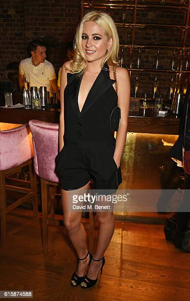 Pixie Lott attends the Tatler Little Black Book party with Polo Ralph Lauren at Restaurant Ours on October 20, 2016 in London, England.