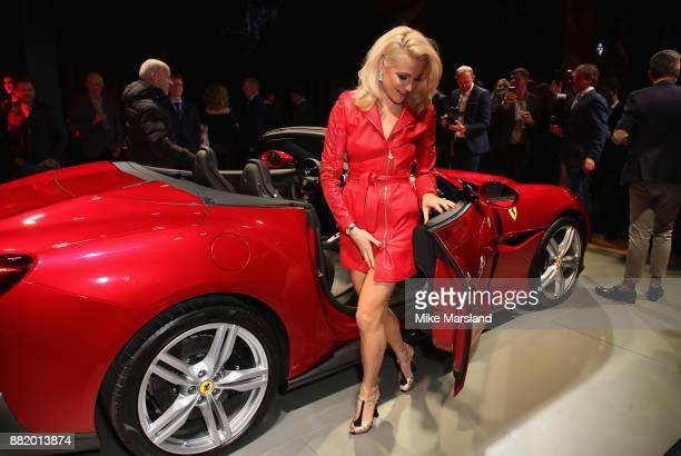 Pixie Lott attends the UK launch event for the new Ferrari Portofino at Kensington Olympia on November 29 2017 in London England