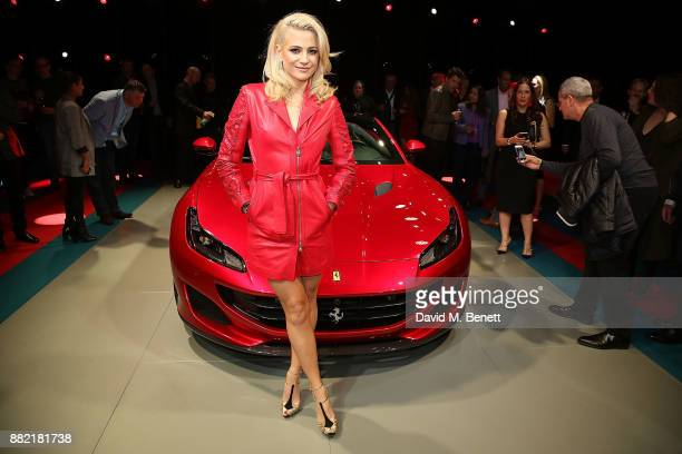 Pixie Lott attends the UK launch of the Ferrari Portofino at Kensington Olympia on November 29 2017 in London England