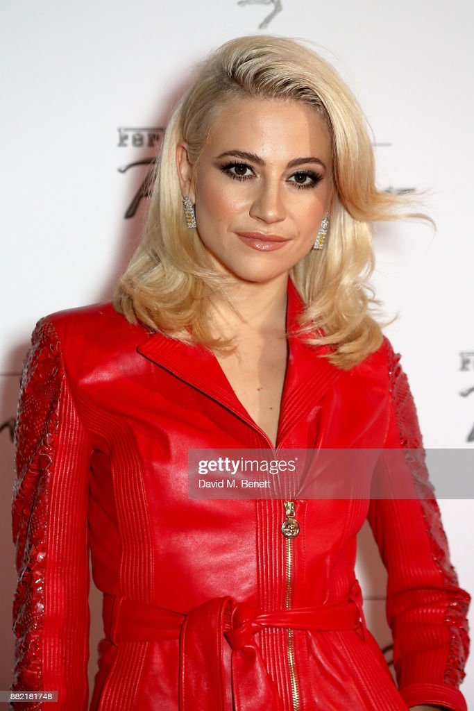 Pixie Lott attends the UK launch of the Ferrari Portofino at Kensington Olympia on November 29, 2017 in London, England.
