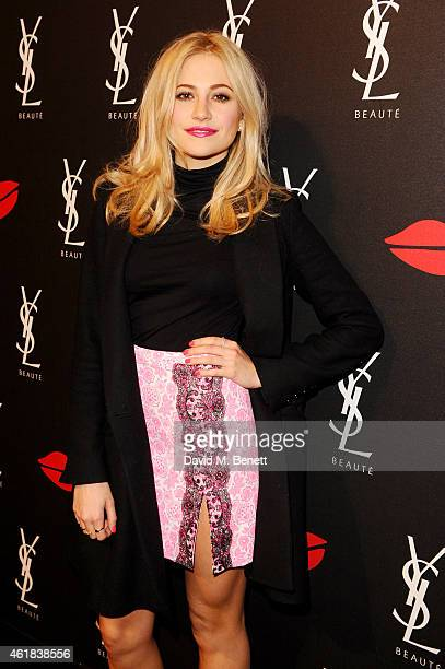 Pixie Lott attends the YSL Beaute Makeup Celebration 'YSL Loves Your Lips' in the presence of Cara Delevingne at The Boiler House, The Old Truman...