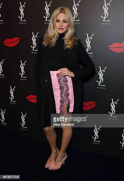 Pixie Lott attends the YSL Beaute: YSL Loves Your Lips party at The Boiler House,The Old Truman Brewery, on January 20, 2015 in London, England.