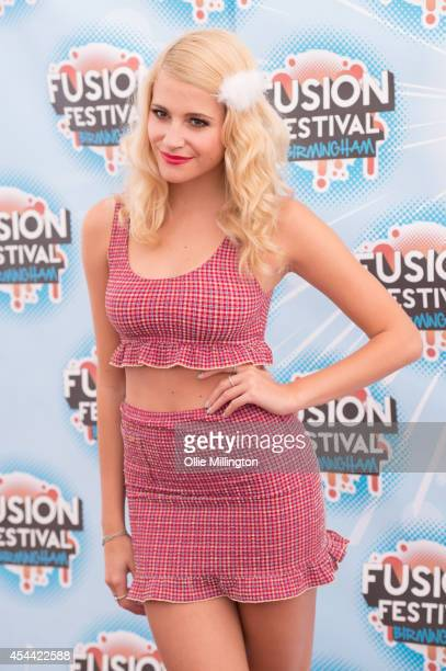 Pixie Lott backstage at Fusion Festival 2014 on August 31 2014 in Birmingham England