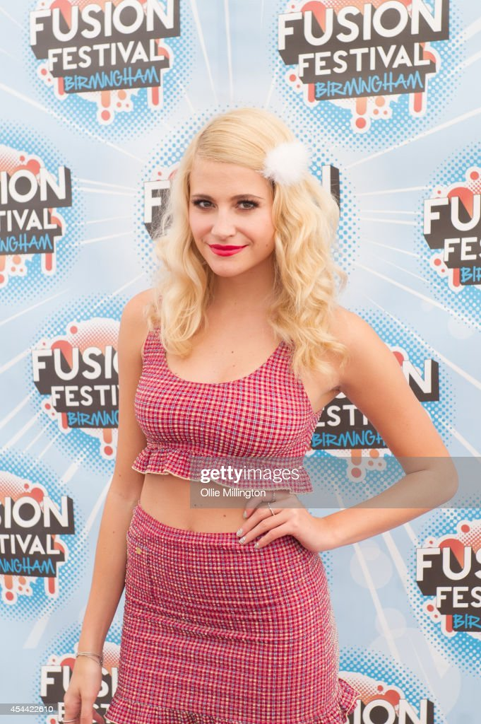 Pixie Lott backstage at Fusion Festival 2014 on August 31, 2014 in Birmingham, England.