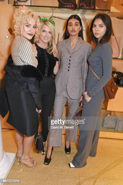 Pixie Lott CharlieAnn Lott Neelam Gill and Doina Ciobanu attend the Stella McCartney Christmas Lights 2017 party on December 6 2017 in London England