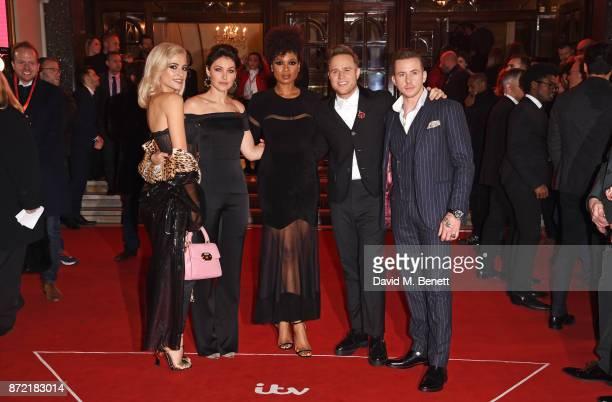 Pixie Lott Emma Willis Jennifer Hudson Olly Murs and Danny Jones attend the ITV Gala held at the London Palladium on November 9 2017 in London England
