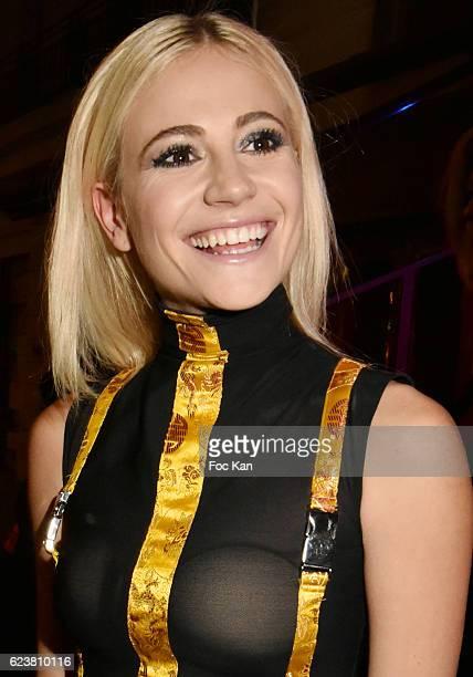 Pixie Lott leaves 'Hard Rock Cafe Paris 25th Anniversary Celebration' at Hard Rock Cafe on November 16 2016 in Paris France