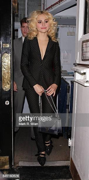 Pixie Lott leaving the Theatre Royal Haymarket on July 5 2016 in London England