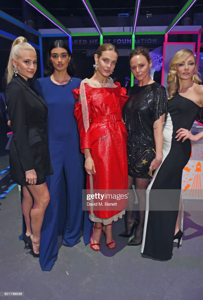 Pixie Lott, Neelam Gill, Natalia Vodianova, Stella McCartney and Clara Paget attend the Naked Heart Foundation's Fabulous Fund Fair at The Roundhouse on February 20, 2018 in London, England.
