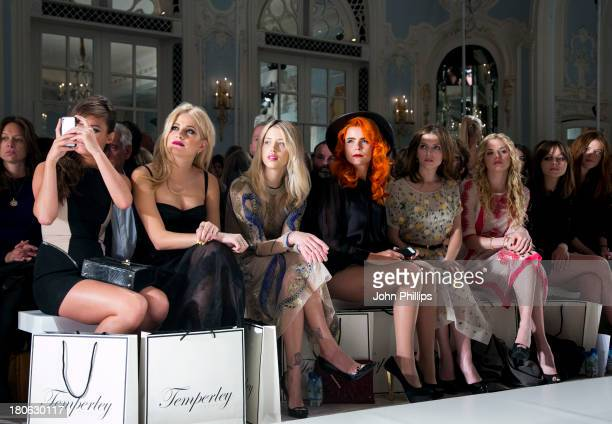 Pixie Lott Peaches Geldof Paloma Faith Anna Kendrick and MacKenzie Mauzy attends the Temperley London show during London Fashion Week SS14 at The...