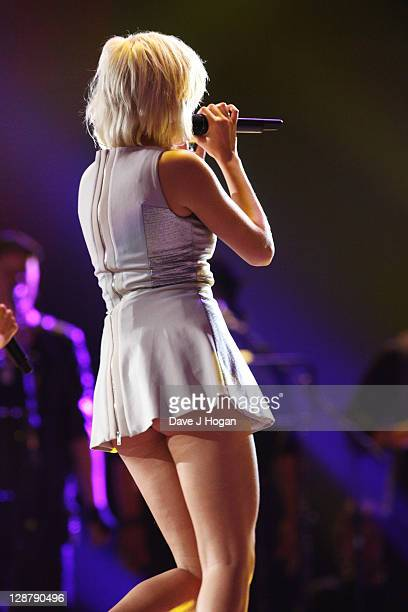 Pixie Lott performs at the 'Michael Forever' concert to remember the late Michael Jackson at The Millenium Stadium on October 8 2011 in Cardiff...